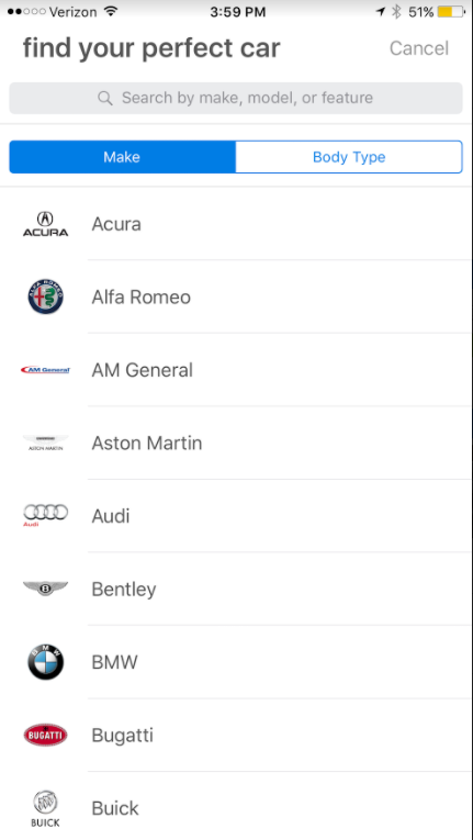 Navigating the Edmunds iPhone app – Edmunds Help Center